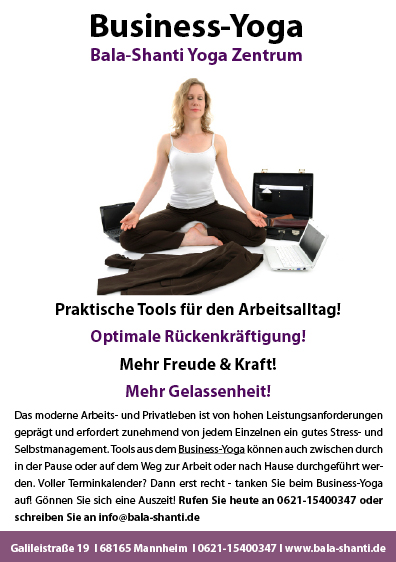 Business Yoga Poster 5